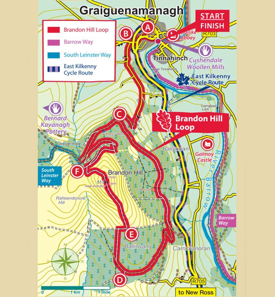 Brandon Hill Loop Walk Kilkenny Map