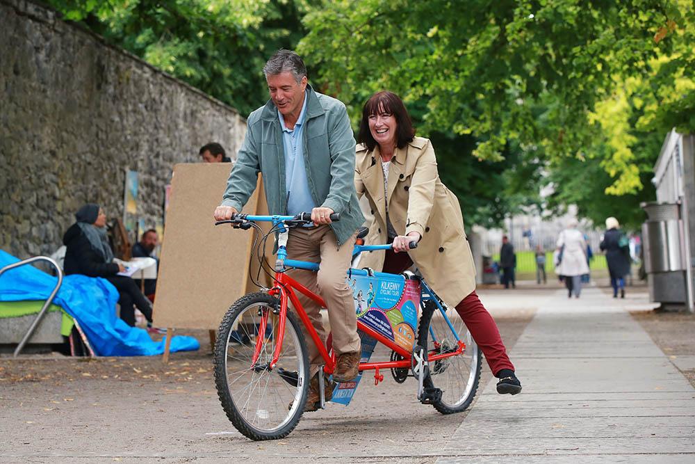 Couple Biking Kilkenny
