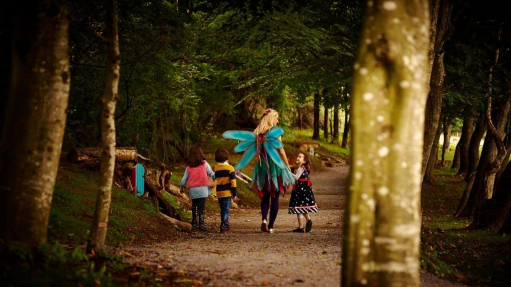 Outdoors Tinkerbell With 3 Kids